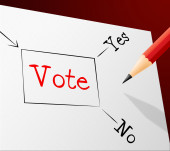 Choice Vote Indicates Election Confusion And Path — Stock Photo