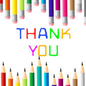 Thank You Shows Many Thanks And Grateful — Stock Photo