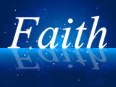 Trust Faith Indicates Believe In And Trustful — Stock Photo