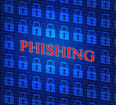 Hacked Phishing Means Threat Theft And Crack — Stock Photo