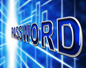 Password Passwords Indicates Log In And Accessible — Stock Photo