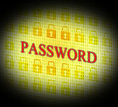 Password Security Represents Log Ins And Account — Stock Photo