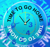 Go Home Indicates See You Soon And Apartment — Stock Photo