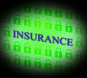 Insurance Online Represents World Wide Web And Searching — Stock Photo