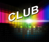 Club Disco Means Membership Audio And Association — Stock Photo