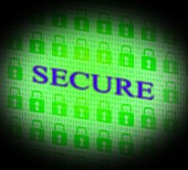 Security Secure Represents Unauthorized Login And Secured — Stock Photo