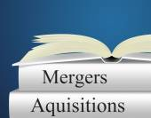 Aquisitions Mergers Represents Link Up And Alliance — Stock Photo