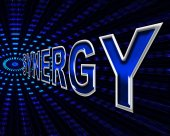 Synergy Energy Means Power Source And Collaborate — Stock Photo