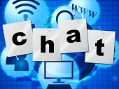 Chatting Chat Represents Telephone Typing And Communicate — Stock Photo