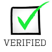 Verified Tick Means Guaranteed Authentic And Approved — Stock Photo
