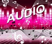 Musique audio montre clé de FA et mélodie — Photo