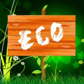 Eco Friendly Shows Go Green And Conservation — Stock Photo