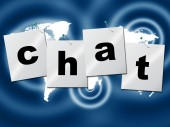 Chat Chatting Indicates Type Typing And Communication — Stock Photo