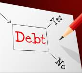 Debt Choice Shows Financial Obligation And Arrears — Stock Photo