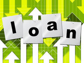 Borrow Loans Means Funding Borrows And Borrowing — Stock Photo
