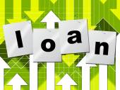 Borrow Loans Means Funding Borrows And Borrowing — ストック写真