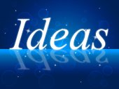 Think Idea Shows Reflecting Concepts And Innovation — Foto Stock