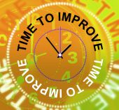 Time To Improve Represents Improvement Plan And Upgraded — Stock Photo