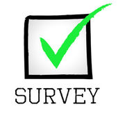 Survey Tick Means Confirmed Polling And Passed — Stock Photo