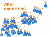 Viral Marketing Shows Social Media And Advertise — Stock Photo
