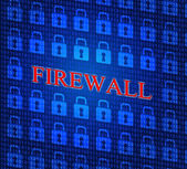 Security Firewall Indicates No Access And Defence — Stock Photo