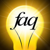Faq Questions Shows Help Faqs And Asking — Foto de Stock