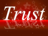 Trust Faith Represents Believe In And Holy — Stock Photo
