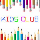 Kids Club Means Apply Toddlers And Youngsters — Stock Photo