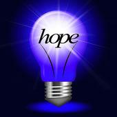 Lightbulb Hope Indicates Want Wanting And Hopeful — Stock Photo