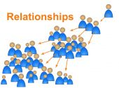 Relationships Network Represents Social Media Marketing And Community — Stock Photo