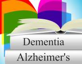 Dementia Alzheimers Shows Alzheimer's Disease And Confusion — Zdjęcie stockowe