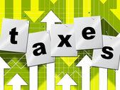 Graph Finance Represents Income Tax And Data — Stock Photo