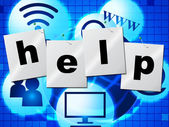 Help Advice Shows Solution Helps And Answers — Stock Photo