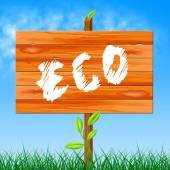 Eco Friendly Represents Go Green And Eco-Friendly — Stock Photo