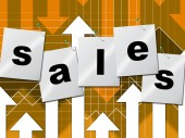Selling Sales Shows Business Graph And Market — Stock Photo