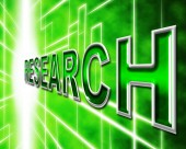 Research Online Means World Wide Web And Analyse — Stock Photo