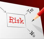 Risk Choice Indicates Problems Hazard And Direction — Stock Photo