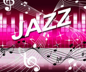 Jazz Music Indicates Track Soundtrack And Melody — Stock Photo