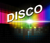 Disco Music Represents Sound Track And Acoustic — Stock Photo