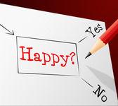 Happy Choice Represents Joy Cheerful And Alternative — Stock Photo