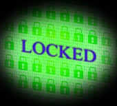 Locked Security Represents Secure Unauthorized And Locking — Stock Photo
