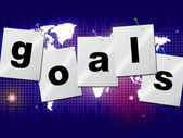 Goals Targets Indicates Aspirations Objectives And Forecast — Stock Photo