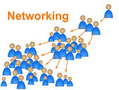 Network Networking Represents Social Media Marketing And Connection — Foto de Stock