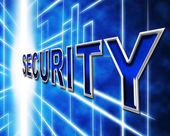 Data Security Indicates Restricted Password And Information — Stock Photo