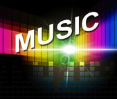 Music Notes Indicates Sound Track And Composer — Stock Photo