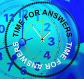 Time For Answers Indicates Knowhow Info And Assist — Stock Photo