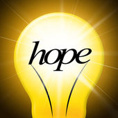 Hope Lightbulb Represents Want Wishes And Wants — Stock Photo
