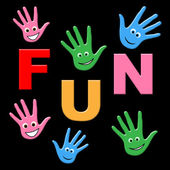 Kids Fun Indicates Joyful Happy And Jubilant — Stock Photo