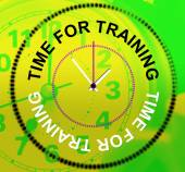 Time For Training Represents Instructing Education And Lessons — Stock Photo