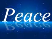 Peace Relaxation Represents Love Not War And Calm — Foto de Stock